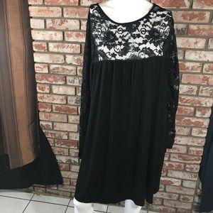 Boohoo women's dress size 20 lace black NWOT
